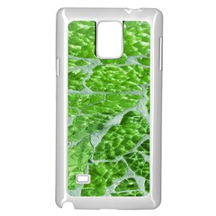 Festive Chic Green Glitter Shiny Glamour Sparkles Samsung Galaxy Note 4 Case (white)