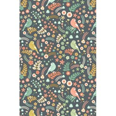 Vintage Flowers And Birds Pattern 5 5  X 8 5  Notebooks