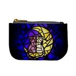 Moon Kitties Stained Glass Coin Change Purse Front
