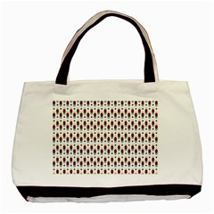Geometric Retro Patterns Basic Tote Bag (two Sides)