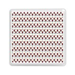 Geometric retro patterns Memory Card Reader (Square)  Front