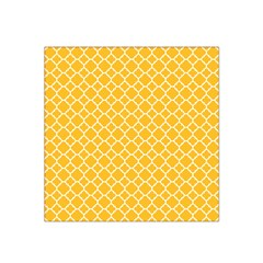 Sunny Yellow Quatrefoil Pattern Satin Bandana Scarf by Zandiepants