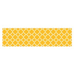 Sunny Yellow Quatrefoil Pattern Satin Scarf (oblong) by Zandiepants