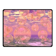 Glorious Skies, Abstract Pink And Yellow Dream Fleece Blanket (small) by DianeClancy