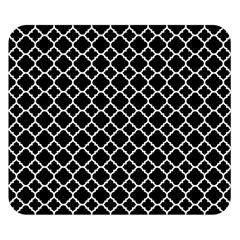 Black White Quatrefoil Classic Pattern Double Sided Flano Blanket (small)  by Zandiepants