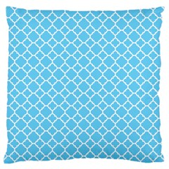 Bright Blue Quatrefoil Pattern Standard Flano Cushion Case (one Side) by Zandiepants