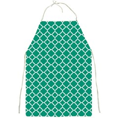 Emerald Green Quatrefoil Pattern Full Print Apron by Zandiepants