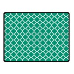 Emerald Green Quatrefoil Pattern Fleece Blanket (Small) 50 x40  Blanket Front