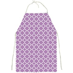 Lilac Purple Quatrefoil Pattern Full Print Apron by Zandiepants