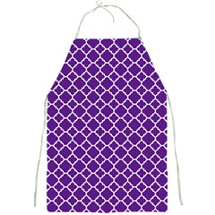 Royal Purple Quatrefoil Pattern Full Print Apron by Zandiepants