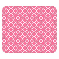Soft Pink Quatrefoil Pattern Double Sided Flano Blanket (small) by Zandiepants