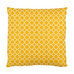 Sunny Yellow Quatrefoil Pattern Standard Cushion Case (two Sides) by Zandiepants