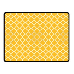 Sunny Yellow Quatrefoil Pattern Fleece Blanket (small) by Zandiepants