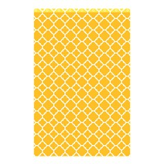 Sunny Yellow Quatrefoil Pattern Shower Curtain 48  X 72  (small) by Zandiepants