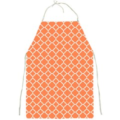 Tangerine Orange Quatrefoil Pattern Full Print Apron by Zandiepants