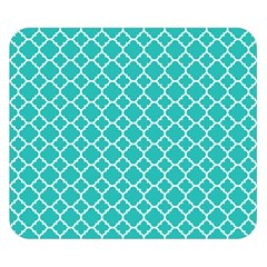 Turquoise Quatrefoil Pattern Double Sided Flano Blanket (small) by Zandiepants