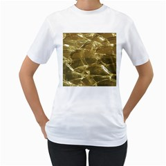 Gold Bar Golden Chic Festive Sparkling Gold  Women s T Shirt (white) (two Sided) by yoursparklingshop