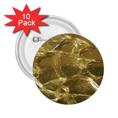 Gold Bar Golden Chic Festive Sparkling Gold  2 25  Buttons (10 Pack)  by yoursparklingshop