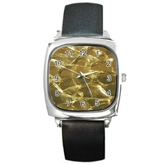 Gold Bar Golden Chic Festive Sparkling Gold  Square Metal Watch by yoursparklingshop