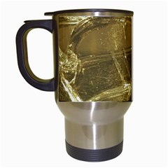 Gold Bar Golden Chic Festive Sparkling Gold  Travel Mugs (white) by yoursparklingshop