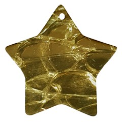 Gold Bar Golden Chic Festive Sparkling Gold  Star Ornament (two Sides)  by yoursparklingshop