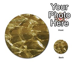 Gold Bar Golden Chic Festive Sparkling Gold  Multi Purpose Cards (round)  by yoursparklingshop