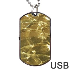 Gold Bar Golden Chic Festive Sparkling Gold  Dog Tag Usb Flash (one Side) by yoursparklingshop
