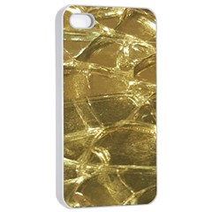 Gold Bar Golden Chic Festive Sparkling Gold  Apple Iphone 4/4s Seamless Case (white) by yoursparklingshop