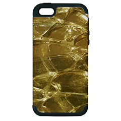 Gold Bar Golden Chic Festive Sparkling Gold  Apple Iphone 5 Hardshell Case (pc+silicone) by yoursparklingshop