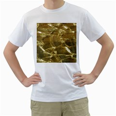 Gold Bar Golden Chic Festive Sparkling Gold  Men s T Shirt (white)  by yoursparklingshop