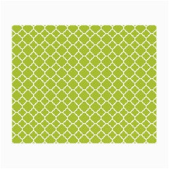 Spring Green Quatrefoil Pattern Small Glasses Cloth (2 Sides) by Zandiepants