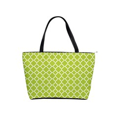 Spring Green Quatrefoil Pattern Classic Shoulder Handbag by Zandiepants