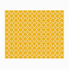 Sunny Yellow Quatrefoil Pattern Small Glasses Cloth (2 Sides) by Zandiepants