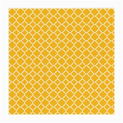 Sunny Yellow Quatrefoil Pattern Medium Glasses Cloth (2 Sides) by Zandiepants