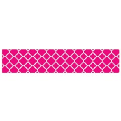 Hot Pink Quatrefoil Pattern Flano Scarf (small) by Zandiepants