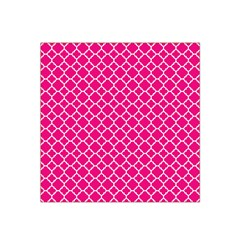 Hot Pink Quatrefoil Pattern Satin Bandana Scarf by Zandiepants
