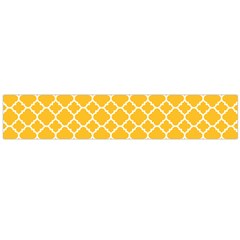 Sunny Yellow Quatrefoil Pattern Flano Scarf (large)