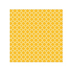 Sunny Yellow Quatrefoil Pattern Small Satin Scarf (square) by Zandiepants