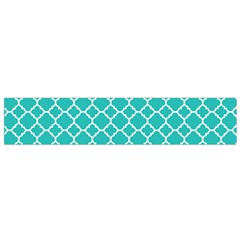 Turquoise Quatrefoil Pattern Flano Scarf (small) by Zandiepants