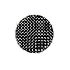 Black & White Quatrefoil Pattern Hat Clip Ball Marker by Zandiepants