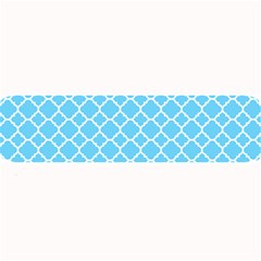 Bright Blue Quatrefoil Pattern Large Bar Mat by Zandiepants