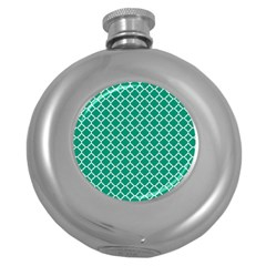 Emerald Green Quatrefoil Pattern Hip Flask (5 Oz) by Zandiepants