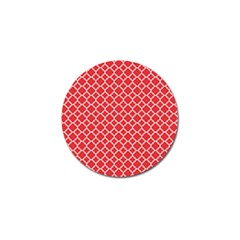 Poppy Red Quatrefoil Pattern Golf Ball Marker (10 Pack) by Zandiepants