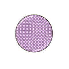 Lilac Purple Quatrefoil Pattern Hat Clip Ball Marker (4 Pack) by Zandiepants