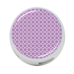 Lilac Purple Quatrefoil Pattern 4 Port Usb Hub (one Side) by Zandiepants