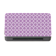 Lilac Purple Quatrefoil Pattern Memory Card Reader With Cf by Zandiepants