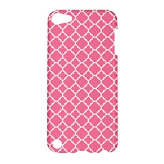 Soft Pink Quatrefoil Pattern Apple Ipod Touch 5 Hardshell Case