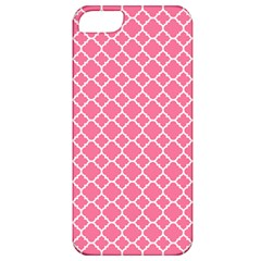 Soft Pink Quatrefoil Pattern Apple Iphone 5 Classic Hardshell Case by Zandiepants
