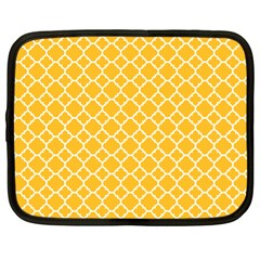 Sunny Yellow Quatrefoil Pattern Netbook Case (xl) by Zandiepants