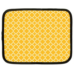 Sunny Yellow Quatrefoil Pattern Netbook Case (xxl) by Zandiepants